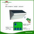 1000lm 56 светодиодный СВЧ-радиолокатор с дистанционным управлением Настенный беспроводной солнечный свет сада