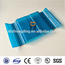 polycarbonate corrugated sheet with uv protection