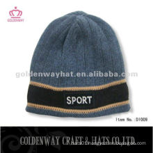 Mens winter knitted promotion hat