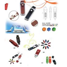 USB Flash Drive w / falsa cubierta de cuero (12D02001)