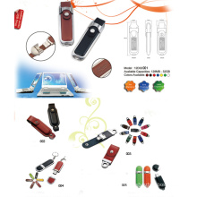 USB Flash Drive w/Fake Leather Cover (12D02001)