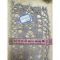 Хлопчатобумажное кружево с ткачеством, индивидуальная ширина и цвет.