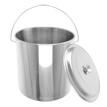 Cubo de agua recta de acero inoxidable