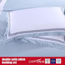 Ensemble de literie Double Satin Stitch Design Classique
