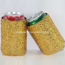 Latest Fashion Golden Neoprene Can Coolers