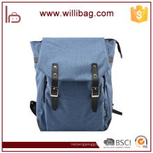 Fashion Pure Color Custom School Backpack With Laptop Compartment