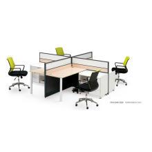 Croix forme 4 personnes moderne Office partitions de bureau