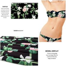 Spandex del poliester tela impresa de la flor para traje de baño y vestido de Jersey