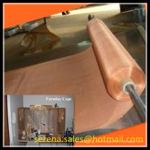 China-Lieferanten-Leinwandbindung emi, die Faradaykäfig-Kupfermasche abschirmt