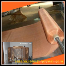 China supplier plain weave emi shielding faraday cage copper mesh