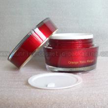 50ml Red Cone Shape Acrylic Cream Jar