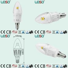 Lumière blanche de bougie de LED de corps de couleur avec l'angle de faisceau de 330 degrés