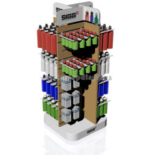 Table Top Wood Slatwall Store Fixture Customized Novel Plastic Small Water Bottle Display Racks