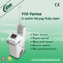 Y12 Dispositif de beauté anti-tatouage laser DL YAG réglable