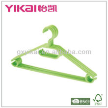 Set of 5 pcs plastic hangers with clips, trousers bar and notches