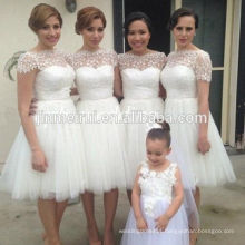 Knee Length Prom Dresses 2017 Tulle Fabric Beautiful Evening Short Gowns
