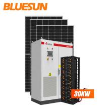 China 25kw solar system 30kw solare system hybrid solar panel system kit