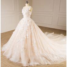 Light Champagner trägerlosen Brautkleid