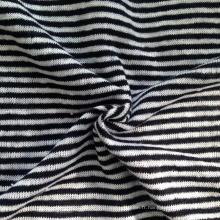 Tissu à rayures tricotées en lin (QF14-1546-SS.)