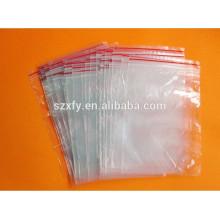 Material de PE bolsa de embalaje de plástico resellable