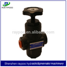 manual hydraulic flow control valve