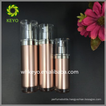 30ml 60ml 80ml High quality acrylic airless pump bottle rose gold cosmetic bottle