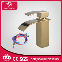 Square gold-plated bathroom waterfall faucet MK23605