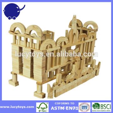 construction wooden city building blocks