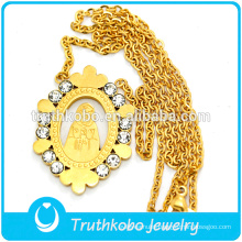 316L Stainless Steel Gold Plated Flat Snake Long Chain Necklaces