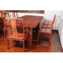 Middle Board African Bubinga Meeting Table with Nature and Beautiful Grain.
