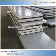 Auto Aluminio EPS & Rockwool Sándwich de techos Panel de Cold Roll formando la máquina