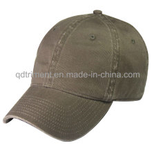 Washed 100% Cotton Twill Blank Plain Baseball Cap (TRNB020)