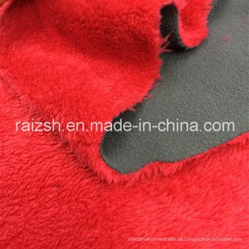 Composite Gewebe Polar Fleece Kurzes Plüsch Bonded Fabric