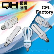 CFL PCB éconergétiques lampe ampoule CFL lampe spirale, forme en U