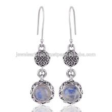 Rainbow Moonstone Gemstone 925 Sterling Silver Earring