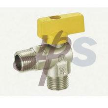 robinet à tournant sphérique de gaz d'angle en laiton avec la poignée en aluminium