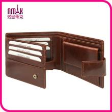 Men Genuine Leather Wallet Retro Cowhide Hasp Trifold Purse Vintage Card Holder