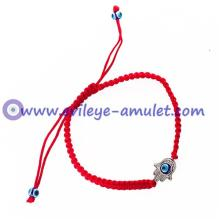 Hamsa Hand Evil Eye Braided Bracelet - Mixed color