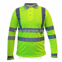 reflective safety yellow polo tshirt