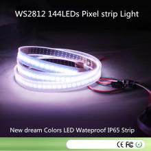 DC5V 144pixel / M 7mm / Cut 144LEDs Ws2812 Tira de píxeles LED a prueba de agua