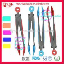 Pinzas de silicona y utensilios de cocina de silicona y metal de grado alimentario