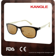 2017 new Lady style metal optical frames with clip on, good quality TR90 material clip on sunglasses