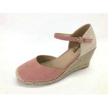 Damen Sommer Espadrille Heel Wedge Sandalen