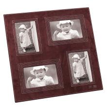 Quadro de foto de couro com abertura múltipla