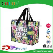 Цветок 2015 Non сплетенный мешок с застежкой-молнией