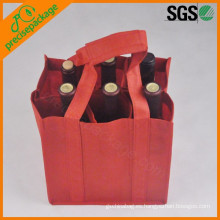 botella eco reutilizable pp bolsas de vino no tejidas