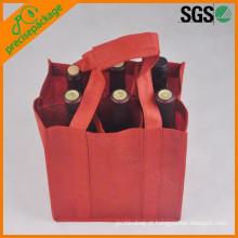 eco reutilizável garrafa pp sacos de vinho não tecido