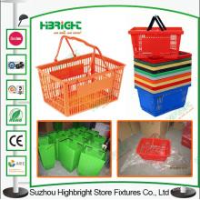 Double poignée plastique Portable de panier pour le supermarché