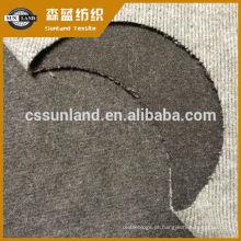 poliéster de algodão escovado tecido de lã de agulha desenhada para roupas de inverno