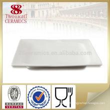 Bone china modern design white square shape dinner plates plate mat